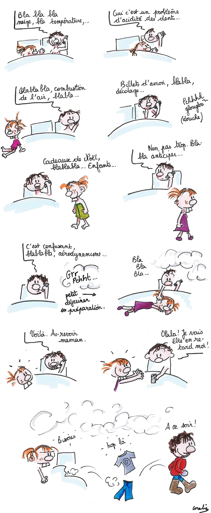 François téléphone maman